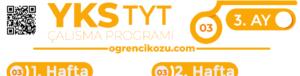 TYT Çalışma Programı 3. Ay