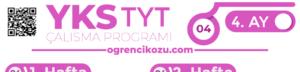2018 TYT Çalışma Programı (4 Ayda Bitir!) 2