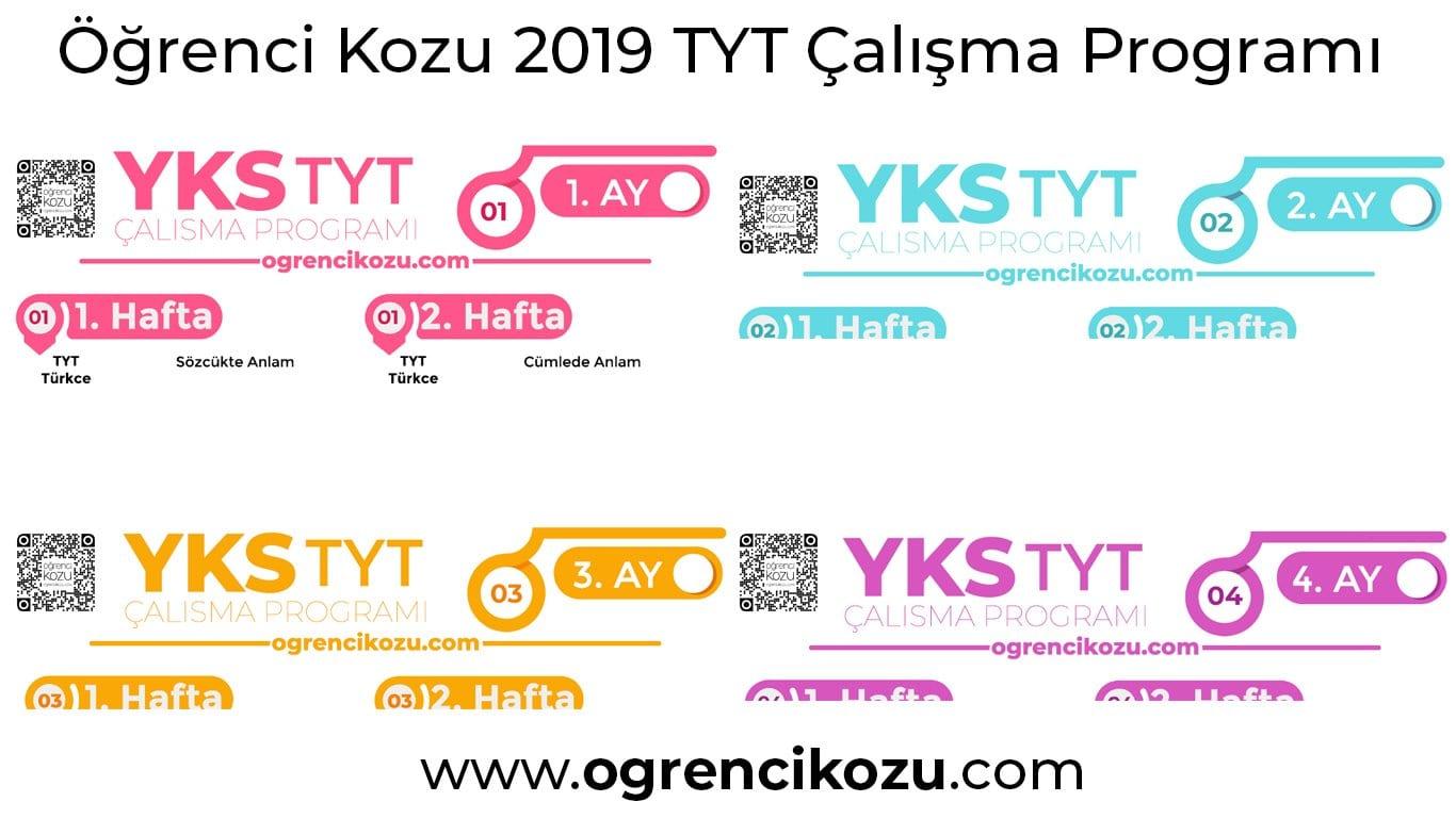 2019 TYT Çalışma Programı