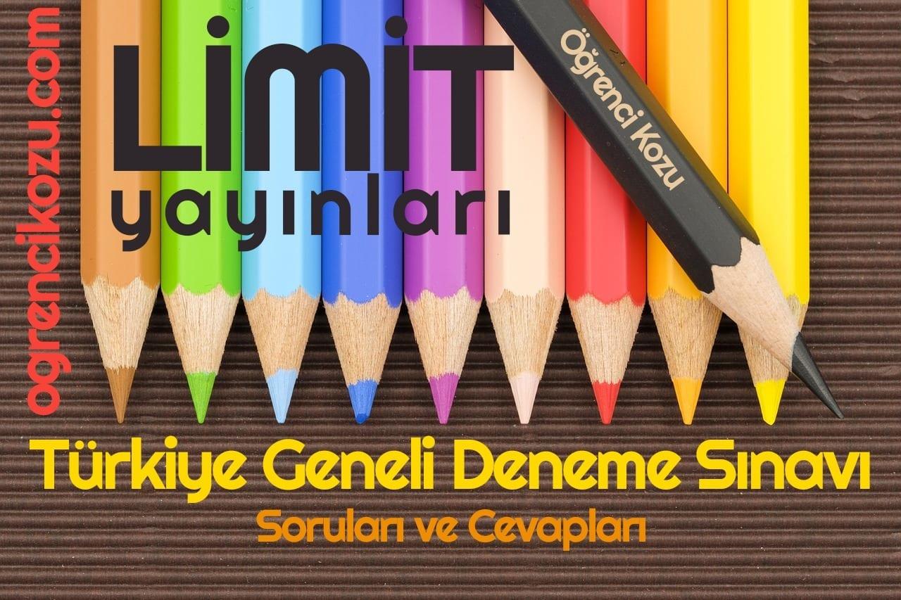 Limit Yayınları Türkiye Geneli 2. Deneme Sınavı